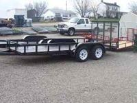 THIS IS A NEW 16' LANDSCAPE TRAILER WITH A 4' REAR