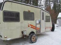 Nicely converted travel trailer into large yet to be
