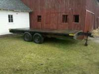 16'x8' Flat Deck Trailer for sale. Wood deck is ok.