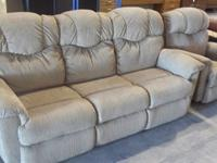 Nice Double Recliner Sofa & Matching Recliner Sofa
