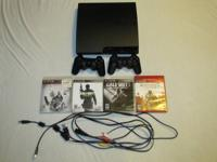 I have a 160gb PS3 Slim for sale with 4 games. It comes