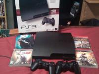 160. Gb ps3 w two controls n 4 games $ 220 (OBO)