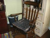 Solid all wood -Maple chairs with Cushion--Two chairs