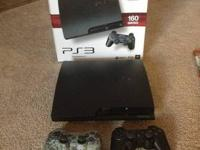Selling a 160GB Slim PS3 with 2 Sony Dual Shock 3