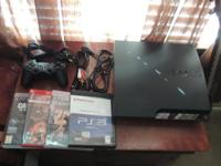 160 GB Sim PS3 with 4 games. Like new - no abrasions or