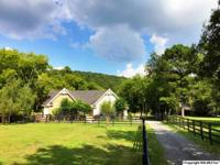 5 acre horse farm makes full use of beautiful setting.