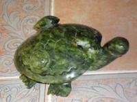 Large Multi Green Chinese Jade Turtle with 2 Babies on