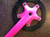 These fixie cranks come in all different colors and has
