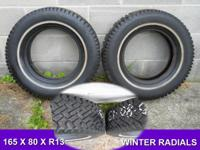FOR SALE;   2. 165 x 80 x R13  WINTER RADIAL
