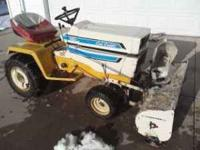 tire chains, mower deck, fluid in back tries, new