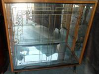 Tall Lighted Curio Cabinet Mirrored Back For Sale In
