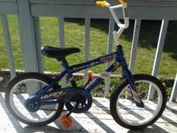"16"" boys bike- Good condition. Some scuffing on white"