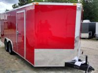 8.5 x 16 Red Enclosed Cargo Trailer This advertisement