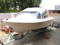 1968 Glasply I/O Mercruiser 4 cylinder in good running