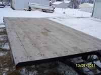"For Sale: Trailer 16' long x 8'5""wide. Brakes on both"