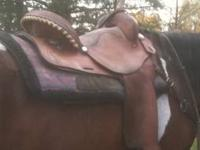 "16"" Rocking R Barrel saddle. Wide tree-fits everything"