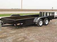 2011 H&H solid side tandem axle 8x16' trailer with