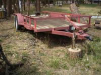 "I'm selling my 16' x 6'3"" twin axle trailer. It has a"