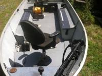 This is a 16 foot 1984 alumacraft fishing boat that