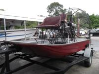 16ft Bandit Airboat Powered by a 6 cylinder Continental