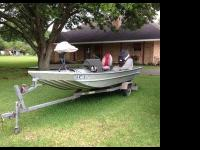 16 Ft Alweld Aluminum Boat with trailer, 60 hp Evinrude
