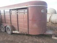 16ft cattle trailer. Had it scene it was new. Have