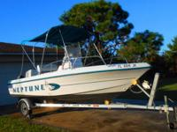 1998 neptune sunbird160 center console boat ,includes