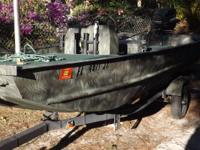 16ft. Custom Camo Jon Boat, 74 inches wide, Center