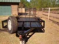 16ft dual axle with electric brakes, removable tail