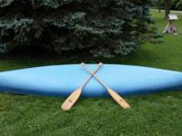 Light Blue Glasto Craft Canoe 16FT (Fiberglass) &