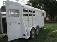 I am selling a used 16ft Gooseneck Livestock Two Horse