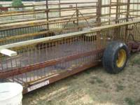 16ft Hampton Hydraulic stock trailer new tires .Please