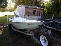 16ft indian river skiff with 1995 johnson 40hp.  This
