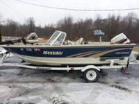 Promoting 1996 16ft sylvan metal fishing-boat with 1997