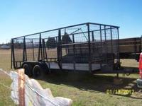 This 16FT Utility Trailer is tough enough to haul just