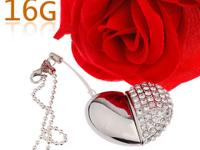 Brand new 16GB Heart Shaped Swarovski Elements U Disk