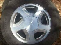 16INCH CHEVY 5 LUG RIMS AND TIRES, EXC CONDITION, 3