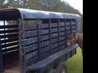 16x6 Gooseneck stock trailer. New oak floor, new tires,