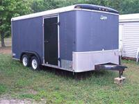 16x7 enclosed trailer tandem axles and brakes,,,wired