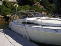 This is a 1989 Sea Ray Sundancer Express 28ft. with