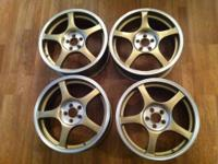 "17"" Bronze 5 Spoke Light Weight Racing Wheels. Wheel"