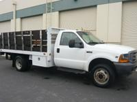 2001 Ford F-550XL 4 x 4 12' Stakebed, 6.8 Liter V10 Gas