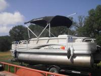 2010 Sun Tracker Fishing Barge 21 with less than 60