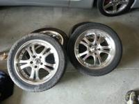 "17"" American racing rims. Came off my 02 mustang. Will"