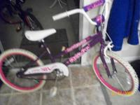2 GIRLS BIKES PURPLE & PINK , ALL IN SUPERB CONDITION!!