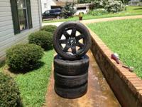"For sale are a set (4) of 17"" BMW rims and tires. The"