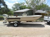 1984-17' BOSTON WHALER MONTAUK W/ 90HP EVINRUDE. RIGGED