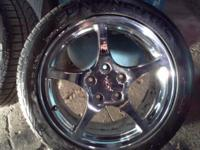 "Selling a set of 17"" Camaro Firebird Rims and Tires."