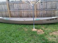 17' aluminum canoe by sears for sale. Has capacity of