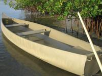 For sale is a 17' cargo canoe made for duck hunters and